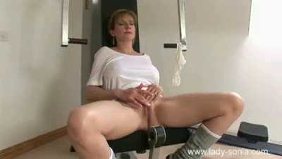 Lady Sonia - In The Gym While Her Husband Is Out