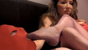 Masked Foot Job