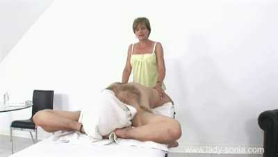 Lady Sonia - Spraying A Married Ladies Tits With Cum