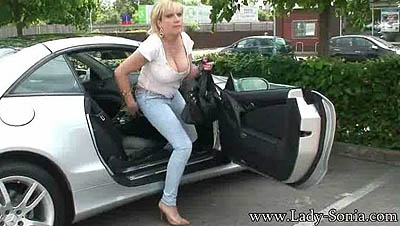 Lady Sonia - Shopping Trip In The Car